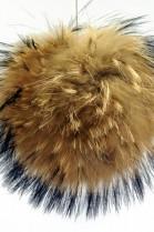 Bommel aus Fell (natur-braun)