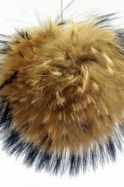 Bommel made of fur (natural brown)