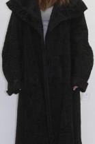 Pelz  Fell  Mantel Persianer schwarz