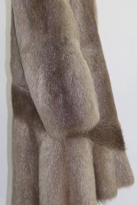 Pelz Fell Mantel Nutria beige