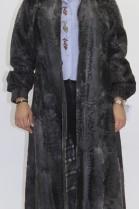 Pelz Fell Jacke  Persianer Mantel grau