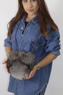 Fur - fur bag silver fox nature