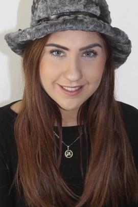 Fur fur hat cap. Persian cap gray