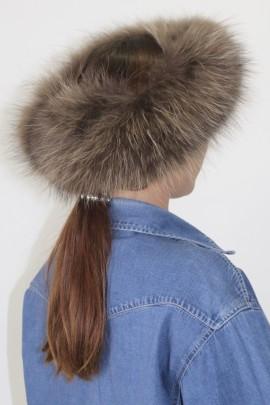 Fur headband Finnraccoon brown