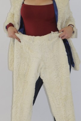 Fur costume jacket and pants made of Persian pearl