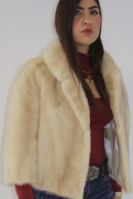 Fur jacket mink pearl