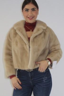 Fur jacket mink short pearl