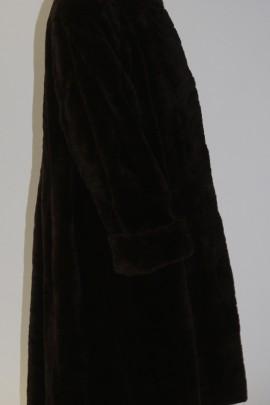 Pelz - Fell  Mantel  Nerz  gerupft Stücke  dunkel  braun