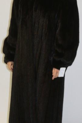 Pelz -Fell    Mantel  Nerz  dunkel braun