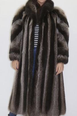Pelz -Fell  Mantel  Waschbär ausgelassen