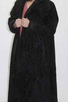 Pelz Fell  Mantel Persianer Swakara schwarz