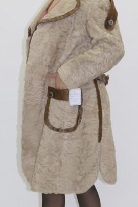 Pelz Fell Jacke Indisch Lamm Pearl mit Leder