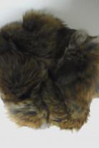 Pelz Fell Haar Gummi  Kanin beige grau